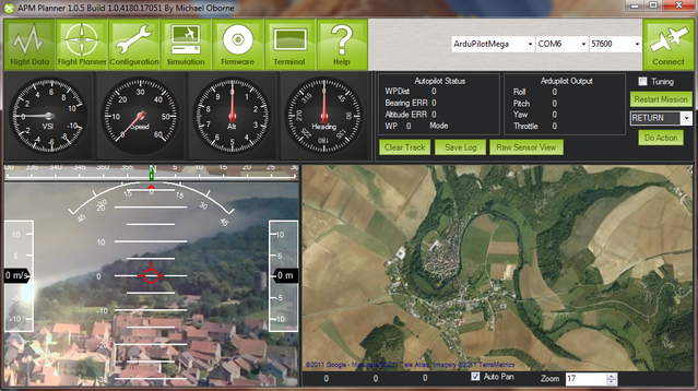 Mission Planner integrated OSD